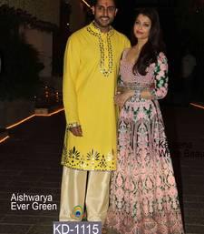 Buy Light pink embroidered art silk salwar bollywood-salwar-kameez-online online