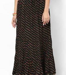 Buy Stunning Black Printed Cotton Skirt skirt online