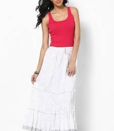 Buy Amazing White Cotton Skirt skirt online