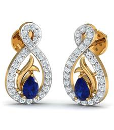 Buy 0.21kt gold-diamond gemstone-earrings gemstone-earring online