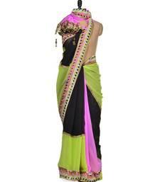 Buy Anushka Multicolror Georgette saree  contemporary and chic summer saree anushka-sharma-saree online