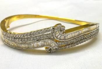 Golden Shining CZ Bracelet