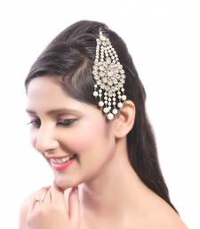 Buy Classic Design Design Work Pearl Stone Gold Finishing For Party Wear pakistani-jewellery online