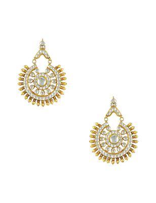 Clear Jadau Kundan Dangle Earrings Jewellery for Women - Orniza