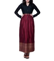 Buy Women's Designer Maxi Dress With Foil Border dress online
