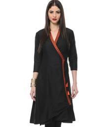 Buy Women's Designer Black Angrakha Tunic tunic online