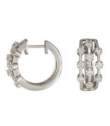 Buy 6.09ct diamond White gold Precious gemstone-earrings gemstone-earring online