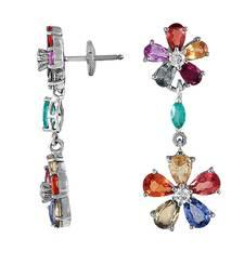 Buy 6.4ct diamond White gold Precious gemstone-earrings gemstone-earring online