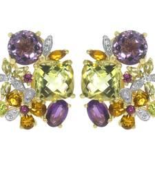 Buy 8.65ct Amethyst White gold Precious gemstone-earrings gemstone-earring online