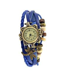 Buy Fly Like A Dragon FlyBlue Colour  Faux Leather Beadwork Hipster Watch watch online