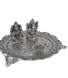 Buy Oxidized Metal Laxmi Ganesh Pooja Thali other-home-accessory online