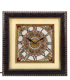 Buy Handpainted Motifs Marble Wall Clock wall-clock online