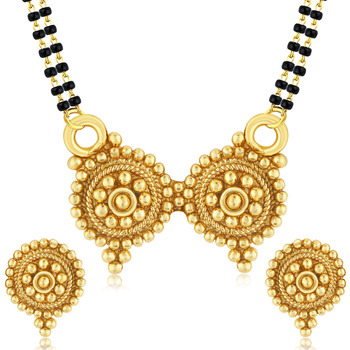 Royal Gold Plated Mangalsutra Set For Women