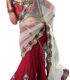 Buy Triveni Love is in the air Embroidery Lehenga Saree-2403 designer-embroidered-saree online
