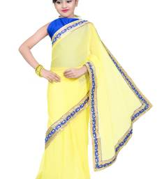 Buy kids ready to wear pre stitched saree and blouse kids-saree online