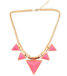 """Buy """"Young and Beautiful in Pink"""" Pink color statement necklace for womens collar-necklace online"""