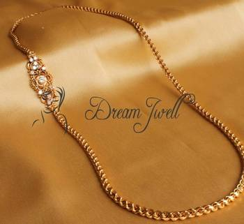 Buy Gorgeous Gold Plated Long Mugappu Chain Online