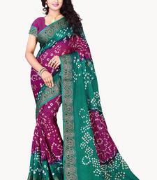 Buy Magenta printed cotton silk saree with blouse traditional-saree online