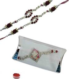 Buy Affectionate of three american diamond bracelet rakhis bracelet-rakhi online