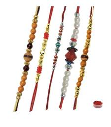 Buy Beads rakhi of five rakhi-gifts-for-brother online