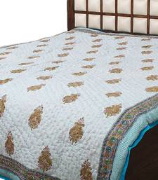 Buy Hand Block Both Side Print  Pure Cotton Jaipuri Double Bed Quilt quilt online