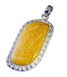 Buy picturesque Jasper Silver Multi Pendant handcrafted gemstone-pendant online