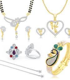 Buy Valentine Collection Glimmery Peacock Gold Plated  Combo For Women jewellery-combo online