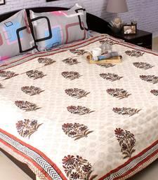Buy Paradise Floral Block Print Pure Cotton Duvet Cover black-friday-deal-sale online