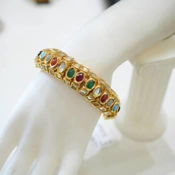 Navratna Kundan Bracelet