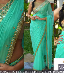 Buy Designer Saree ( By Design Women's Georgette Saree With Banarasi Blouse ) bridal-saree online