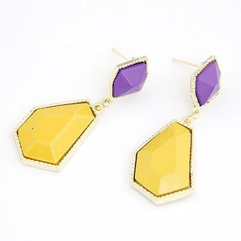 Color Block Earrings Yellow(CFE0076)