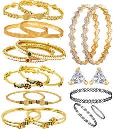 Buy Multicolor cubic zirconia bangles-and-bracelets black-friday-deal-sale online