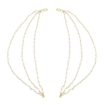 Golden Copper Antique Moti Three Layer Kan Chain For Women Jewellery