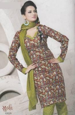 Dress Material Cotton Designer Prints Unstitched Salwar Kameez Suit D.No 10028
