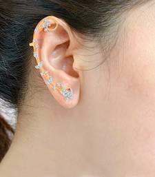 Buy Sukkhi Dazzling Gold and Rhodium Plated Cubic Zirconia Stone Studded Ear cuff(38014ECCZK1110) ear-cuff online