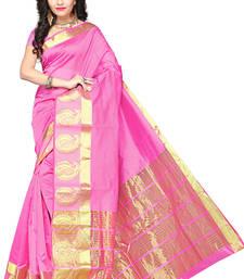 Buy Pink woven manipuri silk saree with blouse manipuri-silk-saree online