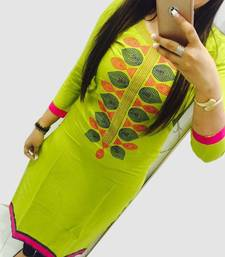Buy Green semi stitched georgette semi stitched kurti georgette-kurti online