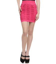 Buy N-gal:Pink plain polyester and spandex party short-skirts. its free size fits perfectly to s-l. short-skirt online