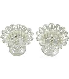 Buy Set of two devdas silver plated oil pooja lamp and diya and niranjan other-home-accessory online