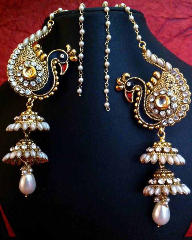Buy Peacock Motif Kashmiri Jhumka Adiva Earring India