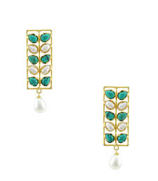 Buy Turquoise Blue Designer Dangle and Drop Earrings Jewellery for Women - Orniza danglers-drop online
