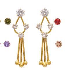 Buy New Look Party Wear Changeable Stones American Diamond Stud Earrings combo-earring online