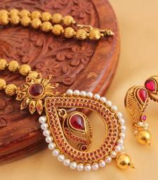 Buy BEAUTIFUL ANTIQUE KEMP NECKLACE SET-DJ08867 necklace-set online
