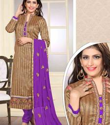 Buy purple embroidered jute semi stitched salwar with dupatta semi-stitched-salwar-suit online