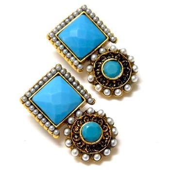 Turquoise desire earrings