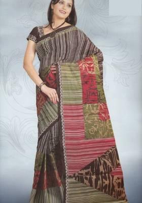 Sarees Cambric Cotton Designer Prints With Blouse Piece D.No 920