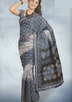 Sarees Cambric Cotton Designer Prints With Blouse Piece D.No 924