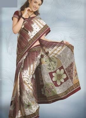 Sarees Cambric Cotton Designer Prints With Blouse Piece D.No 926