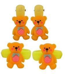 Buy 4 Tic Tac Hair Clips Yellow Orange Dailywear Schoolwear hair-accessory online