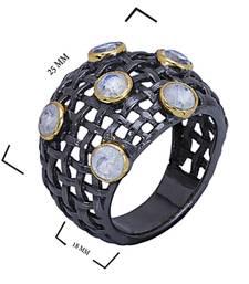 Buy 1.89 ct black studded jewellery gemstone rings gemstone-ring online